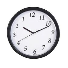 Backwards Running Clock [9 inches] Batteries Included