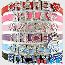 Matte Dog Cat Pet Personalized Rhinestone Collar