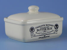 Charlotte Watson Fabriqués au royaume uni crème Beurrier boite avec couvercle -