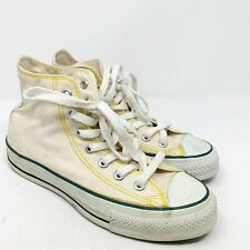 Converse Mens Size 5 Off White Canvas High Top Sneakers