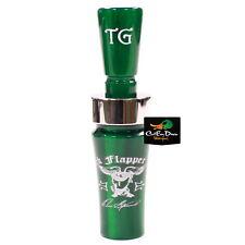 Tim Grounds Back Flapper Plus Mallard Duck Call Emerald Sapphire Green Acrylic