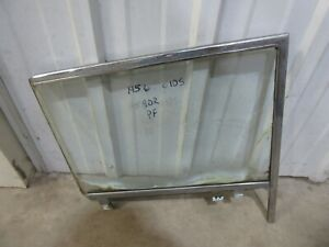 1956 Oldsmobile Holiday 4 door hardtop door window glass trim frame molding PF