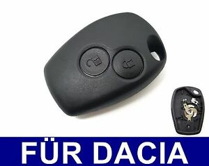 2Tasten Ersatz Auto Schlüssel Gehäuse für Dacia Duster Renault Opel Nissan
