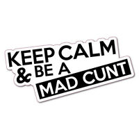 Funny Be A Mad CNT Car Sticker Aussie Car Flag 4x4 Funny Ute *BUY2GET1