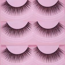 1Pair Natural Sparse Cross Eye Lashes Extension Makeup Long Fake False Eyelashes