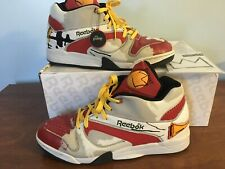 Reebok Court Victory Pump Basquiat Size 13 White Red Great Condition With Box