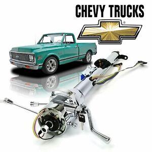 """67-72 Chevy Truck 33"""" Chrome TILT STEERING COLUMN SHIFT Keyed TH350 c10 Cheyanne"""