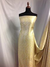 "NEW Beautiful Italian Silk Jacquard Lurex Dogtooth Print Fabric 57"" @ Bond Party"