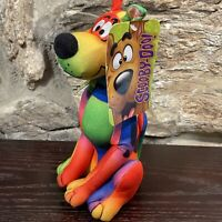 "Toy Factory Scooby Doo 9"" Stuffed Animal Plush Rainbow Tie Dye New"