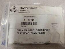 Hanson Rivet 34 Mild Steel Solid Rivet With Flat Rivet Head 316 Dia 125