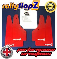 NEW rallyflapZ FORD FIESTA MK8 ST ST-LINE Mud Flaps Kit Red 4mm PVC -RF White