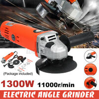 1300W 220V Kit di Smerigliatrice Lucidatrice Angolare Electtrica M10 100mm !