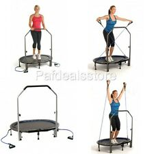 Fitness Trampoline For Adults Oval Jogger Cardio Workout Exercise DVD Handlebar