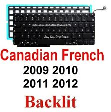 Apple MacBook Pro A1286 2009 2010 2011 2012 Keyboard  CF Canadian French Backlit