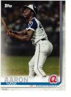 Hank Aaron 2019 Topps Update Complete Atlanta Braves Alumni 5x7 #BAPC-3 /49 Brav
