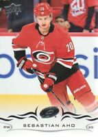 2018-19 Upper Deck Hockey #35 Sebastian Aho Carolina Hurricanes
