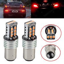 2X 12V RED BAY15D 1157 P21/5W CAR 15 LED BRAKE TAIL STOP LIGHT 2835 CANBUS BULBS