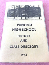 F7 Vintage Alumni Directory Winfred High School History Class 1974 South Dakota