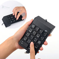 USB Number Pad Numpad Numeric Keypad 18 Keys Keyboard For Laptop Deskto PC NewL