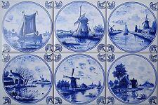 """15x15 Fliesen nach Art: """" Delfter Fliesen Delft delfts """" blau weiß Kacheln, tile"""