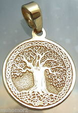 Pendant Celtic Tree of Life Amulet Jewelry Solid Gold 14 karat 585 Gift (p429)