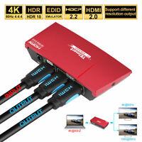 1x2 HDMI 2.0 Splitter Amplifier Repeater 4K@60hz HDCP 2.2  EDOD 3D