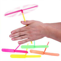 20Pcs Plastic Helicopter Rub Flying Propeller Children Kids Gift Outdoor Toys