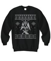 Baphomet Ugly Sweater - Satan Ugly Christmas Sweater - Devil Ugly Sweatshirt - S