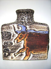 Jarrón de cerámica scheurich Montignac 281-19 Fat lava West-Germany WGP Vintage