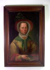 barockes Portrait - Dame mit purpurroter Rüschenhaube - 18. Jhd. - Öl auf Holz