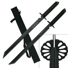 "28"" Full Tang Ninja Twin Tanto Blade Sword Machete w/ Nylon Sheath"