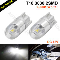 2X White T10 LED 2SMD W5W 194 168 192 Bulb 6000K For Car Side Lamp Parking Light