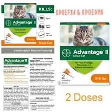 �{2} Bayer Advantage Ii Flea Small Cat 5-9 lbs. Treatment {New}�