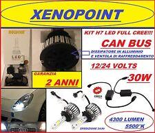KIT LAMPADE H7 LED CREE FULL LED 4300 LUMEN 5000K 12V 24V CAMION AUTO CAN BUS