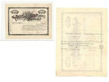 Scripophily the Acacia Gold Mining Company 1900