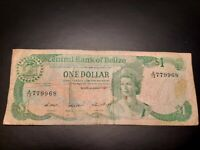 1987 - Central Bank Of Belize - 1 Dollar Banknote, Serial No. A13 779968