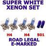 pour MERCEDES VITO 1996-2003 Set H4 H4 501 Xénon SUPER BLANC ampoules