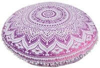 Large Mandala Floor Pillows With Insert Bohemian Cotton Round Cushion Cover