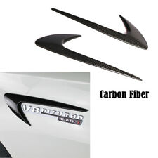 For BENZ C-CLASS E-CLASS S-CLASS Air Vent Side Fender Cover Trim Carbon Fiber