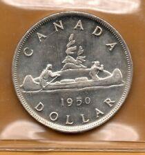 * ICCS MS-65 MS65 1950 $1 Silver Dollar Voyageur George VI White Luster GEM *