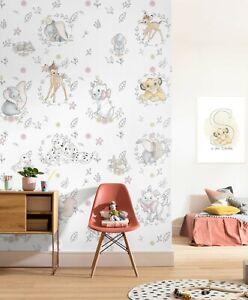 Baby bedroom Wallpaper Mural 78x110inch UNIQUE gift idea Disney Bambi Lion Dumbo