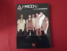 Maroon 5 - 1.22.03.Acoustic . Songbook Notenbuch Vocal Guitar