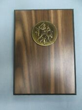 5 x 7 baseball medal relief walnut finish plaque personalized Free lettering