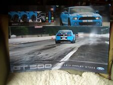 """NEW 2013 FORD MUSTANG COBRA SHELBY GT500  24"""" X 36"""" DEALER ONLY POSTER REVERSIBL"""