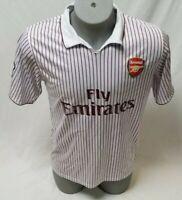 ARSENAL Pinstripe Mens Soccer Jersey-FLY EMIRATES-XXXL-Barclays Premier League
