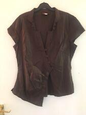 Brown Next Short Sleeve Shirt Size 16 (824)