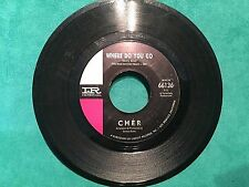 Cher 45 Record Where Do You Go/See See Blues Imperial Records