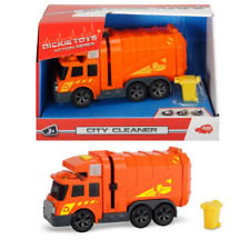 CITY CLEANER GARBAGE TRUCK DICKIE TOYS SOUND AND LIGHT DICKIE TOYS 6'' NEW
