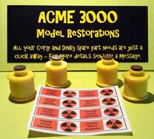 Gerry Anderson Dinky 360 Space1999 Eagle Set 4 Repro Toxic Waste Drum & Stickers