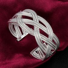 Big Reticulation Bracelet Women Silver Fashion Sterling Jewelry Wedding Hot Gift